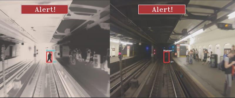 Detection of human underground tracks