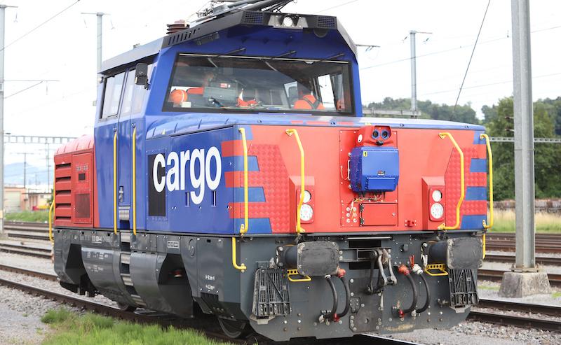 Rail Vision system mounted on locomotive